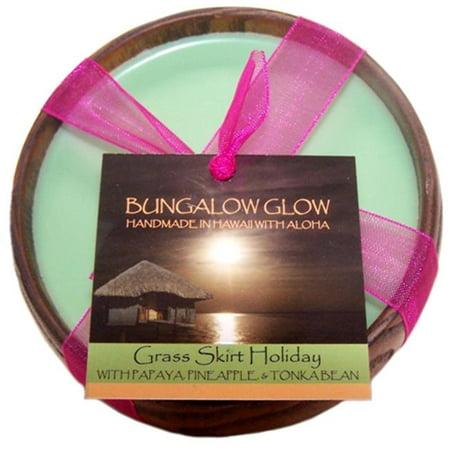 Hawaiian Grass (Bubble Shack Hawaii 689076054089 Grass Skirt Holiday Poi Bowl Candles - Pack of)