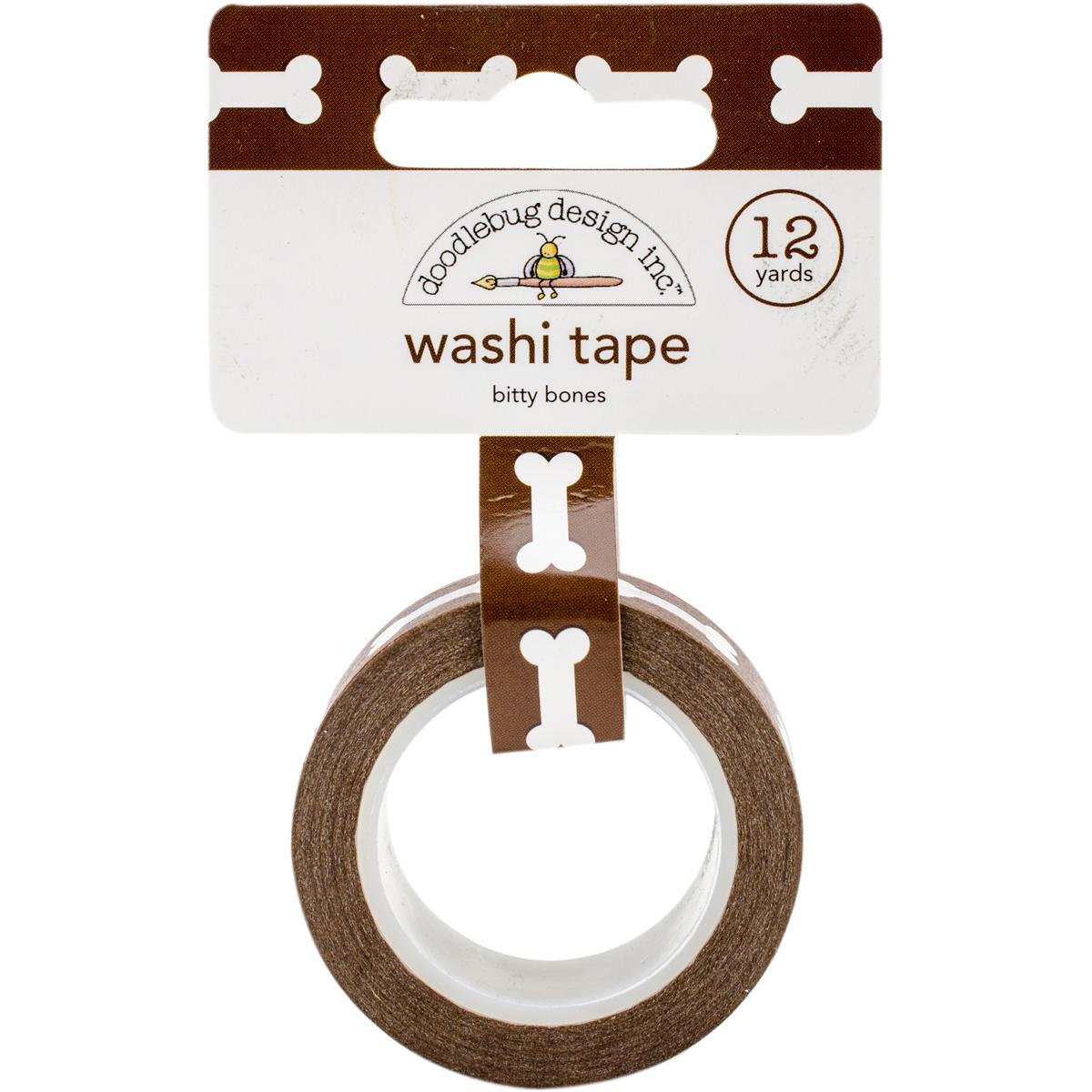 Doodlebug Washi Tape 15mmX12yd-Bitty Bones