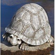 Roman Pudgy Pals Smiling Turtle Outdoor Garden Statue Figurine Yard Decoration 10287