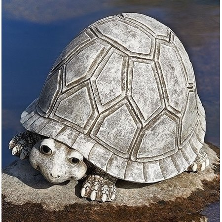Roman Pudgy Pals Smiling Turtle Outdoor Garden Statue Figurine Yard Decoration 10287