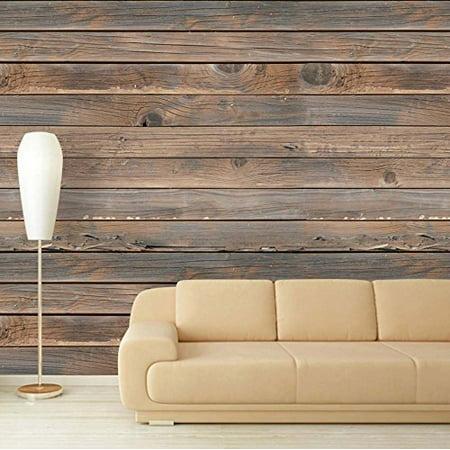 (wall26 Large Wall Mural - Seamless Wood Panel Pattern | Self-adhesive Vinyl Wallpaper/Removable Modern Decorating Wall Art - 100