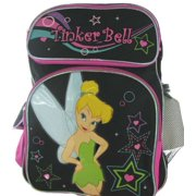 Disney Fairies Tinkerbell Large Black Backpack With Water Bottle