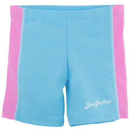 SunBusters Girls Swim Shorts(UPF 50+), Mallow, 12/18 mos - Girls Swim Skirt