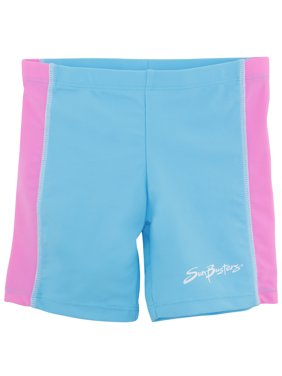 SunBusters Girls Swim Shorts(UPF 50+), Mallow, 12/18 mos