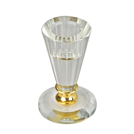 Glass Tall Holder (BalsaCircle Clear and Gold 3