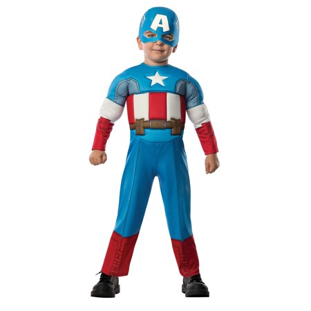 Halloween Captain America Deluxe Infant/Toddler Costume (Halloween At Great America)