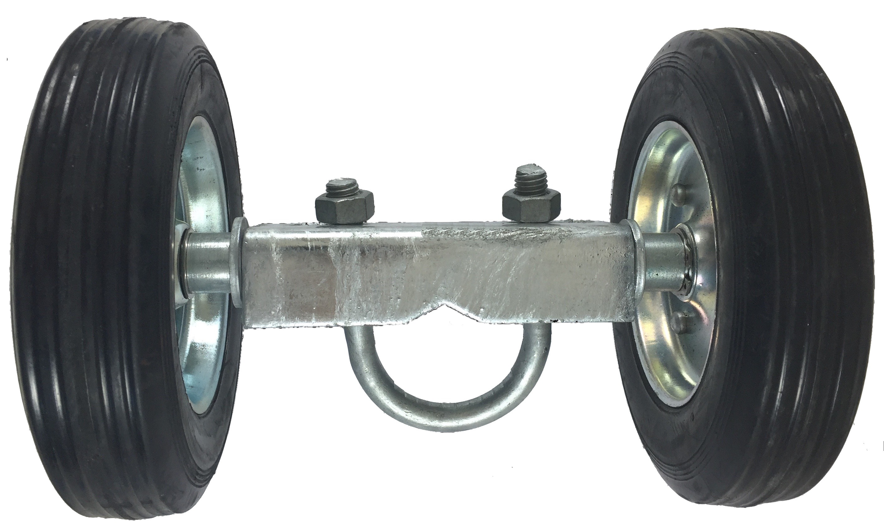 """ROLLING GATE 6"""" WHEEL CARRIER: for Chain Link Fence Rolling Gates Rut Runner 2 Rubber Wheels (axle is... by Rolling%2FSliding Gate Hardware"""