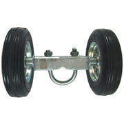 """ROLLING GATE 6"""" WHEEL CARRIER: for Chain Link Fence Rolling Gates - Rut Runner - 2 Rubber Wheels (axle is 6"""" from wheel to wheel) - For Rolling/Sliding Chain Link Fence Gates"""