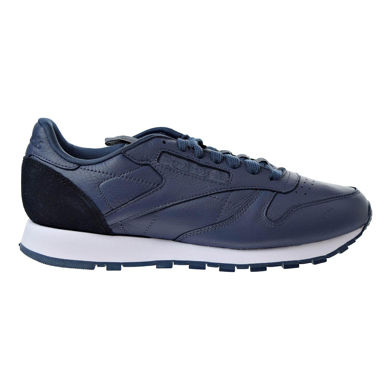 Reebok Classic Leather IT Men's Sneakers Smoky Indigo  Black  White bs8256 by Reebok