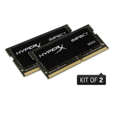 HyperX Impact 64GB 2400MHz DDR4 CL15 SODIMM (Kit of 2) Notebook Memory HX424S15IBK2/64 Kingston Hyperx Pc Memory