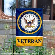 "United States Navy Veteran 12"" x 18"" Garden Flag"
