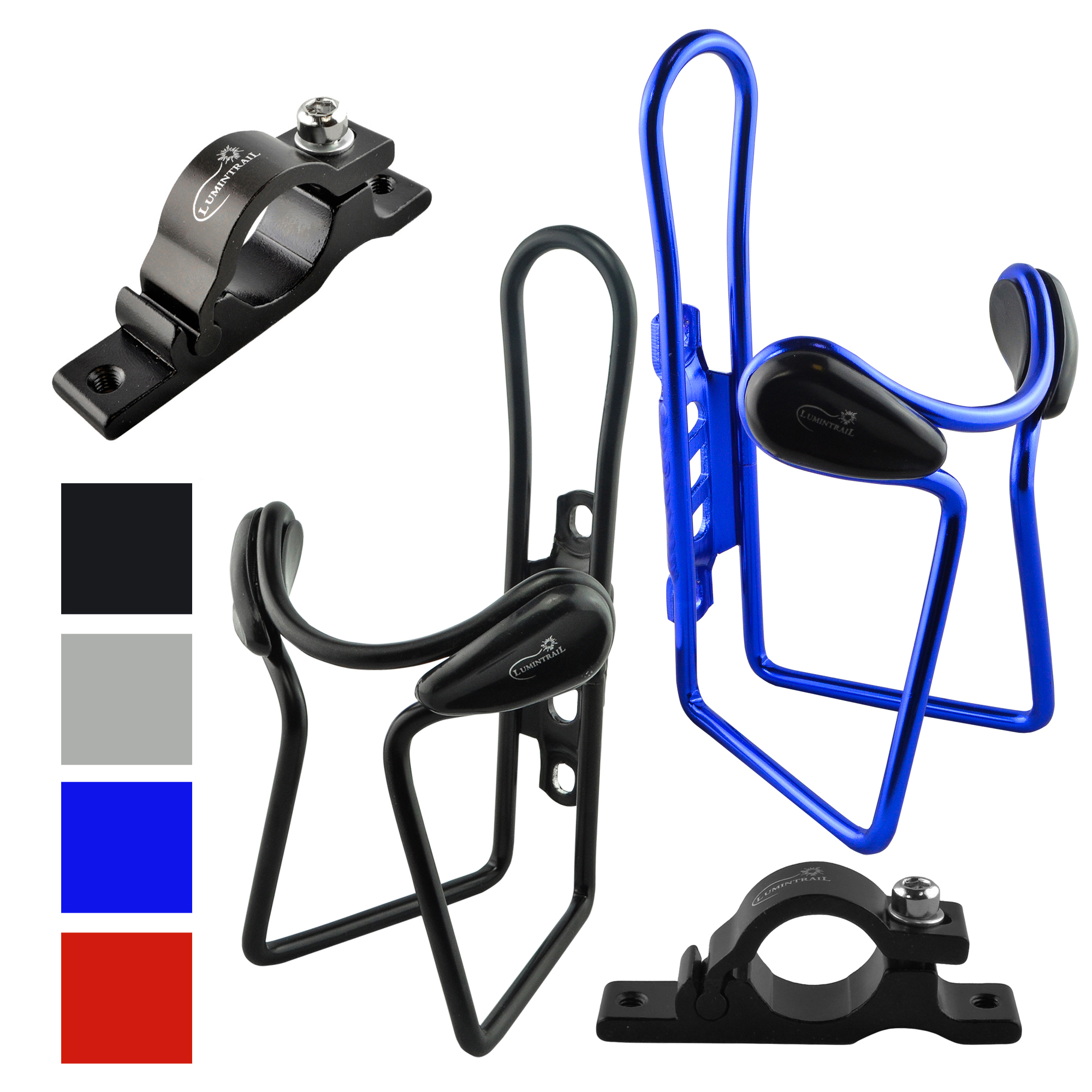 2-PACK Lumintrail Bike Bicycle Water Bottle Cage Holder w// Mounting Bracket