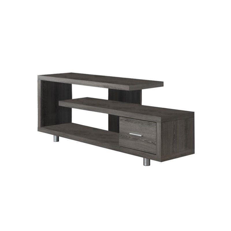 "Bowery Hill 60"" TV Console in Dark Taupe - image 2 of 2"