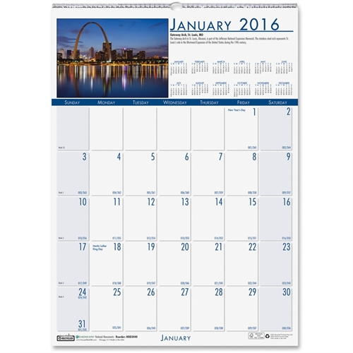 House of Doolittle EarthScapes National Monuments Calendar 3440
