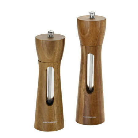 Rachael Ray Tools and Gadgets 2-Piece Acacia Salt and Pepper Grinder (All In One Salt And Pepper Mill)