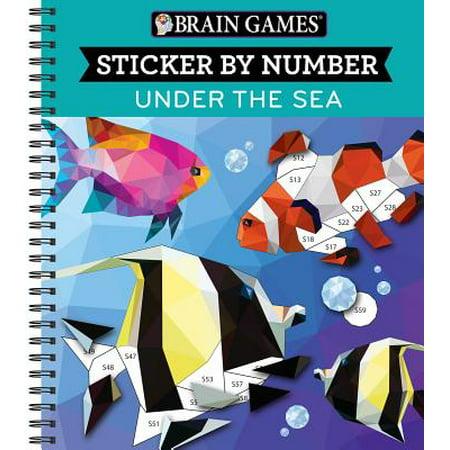Brain Games Sticker by Number Under the - Under The Sea Crafts