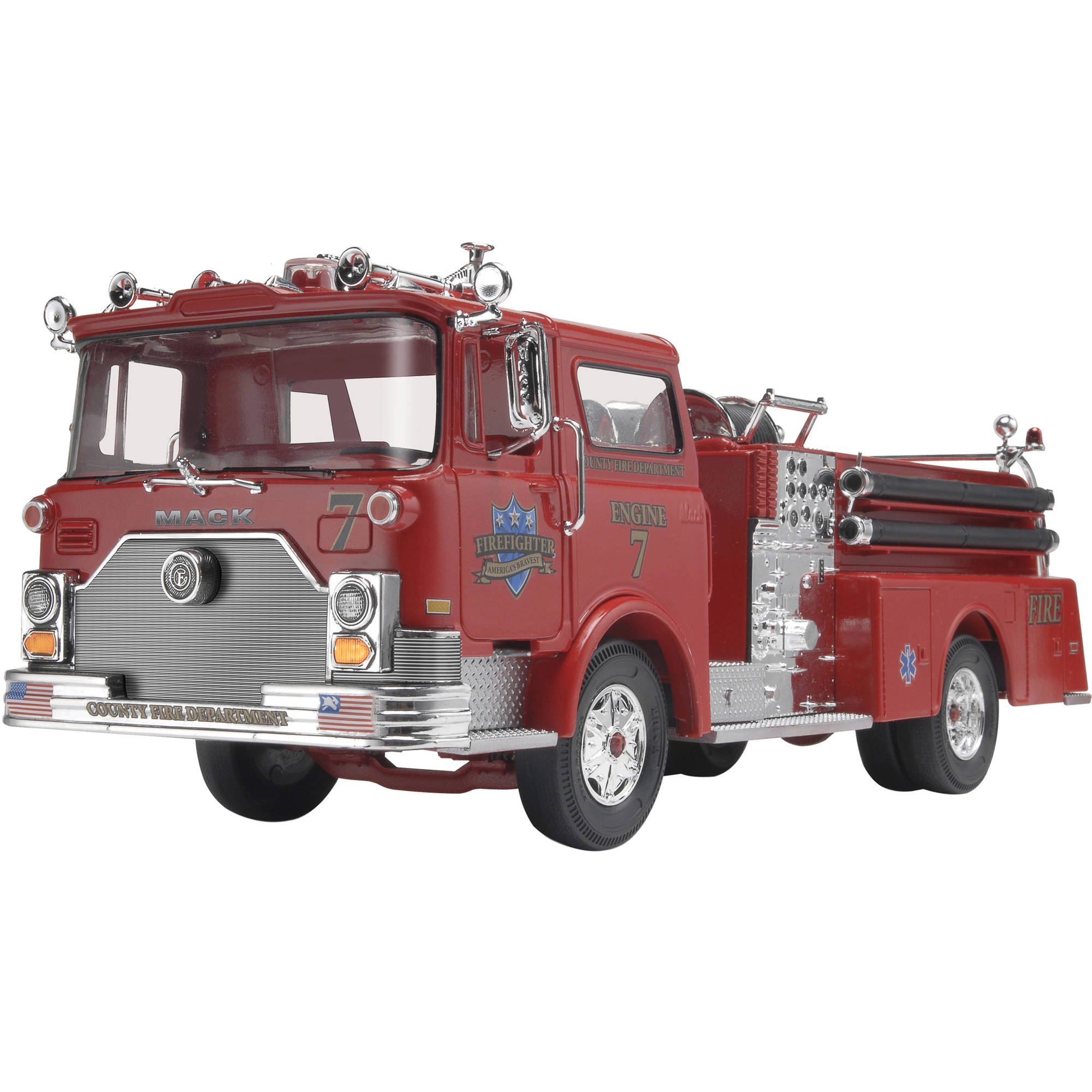 Revell SnapTite Max 1:32 Mack Fire Pumper Plastic Model Kit by Revell