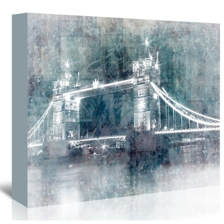 East Urban Home Digital Art Tower Bridge At Night Graphic Art On Wrapped Canvas