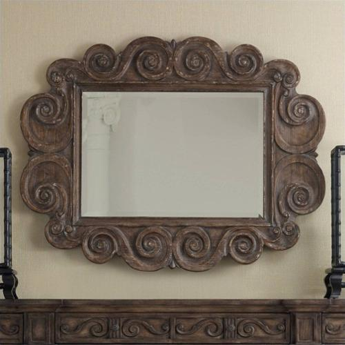 Hooker Furniture Rhapsody Carved Mirror In Rustic Walnut