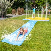 Sportspower Waterparc Funtain with 100 SQ Ft Automated Sprinkler Pad and 25-foot Slide