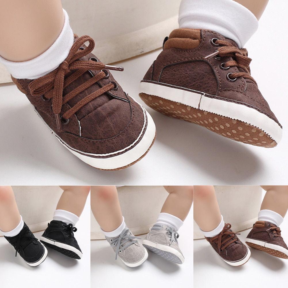 YOHA Baby Boys Fashion Sneakers Kids Anti-Slip Toddler Sneaker Soft Casual Slip-on Toddler Shoes
