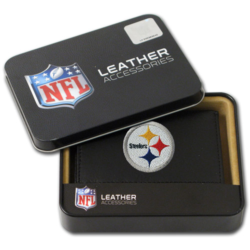 NFL - Men's Pittsburgh Steelers Embroidered Trifold Wallet