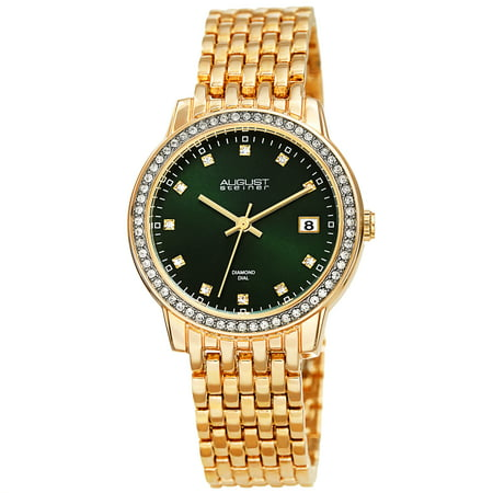 Gold Tone Casual Quartz Watch With Alloy Strap [AS8262GN]