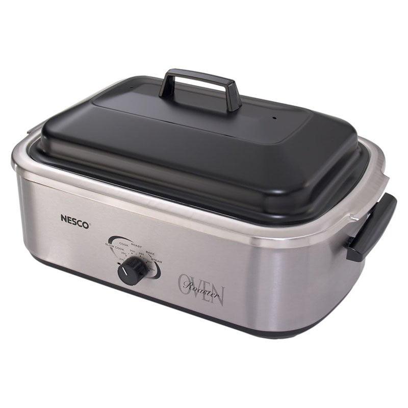 Metal Ware Nesco 4818, 25, 20 18, Quart Roaster Oven, Stainless Steel