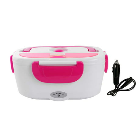 12V Portable Electric Heated Car Plug Heating Lunch Bento Box Rice Container Office Home Food Warmer for Driving Travel Camping Food Container Cutlery Sets Healthy Safe thumbnail