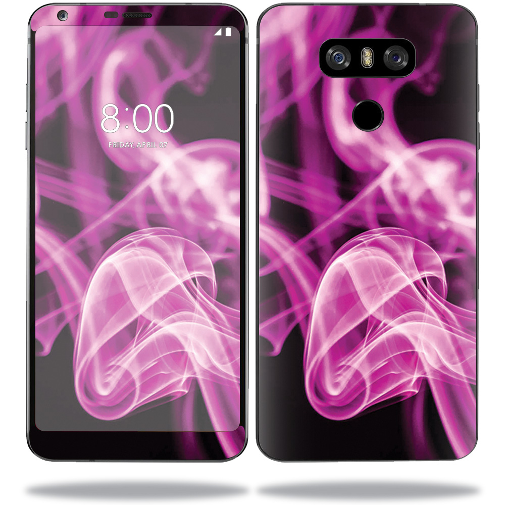 MightySkins Protective Vinyl Skin Decal for LG G6 sticker wrap cover sticker skins Pink Flames