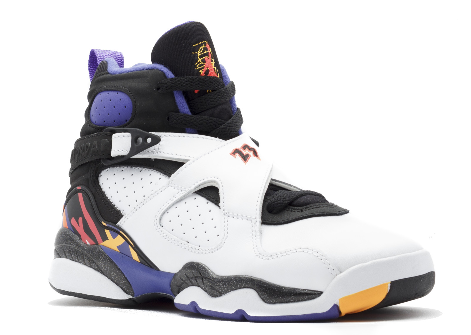 Air Jordan - Unisex - Air Jordan 8 Retro Bg (Gs)  Three-Peat  - 305368-142  - Size 5.5 43a5a7c27