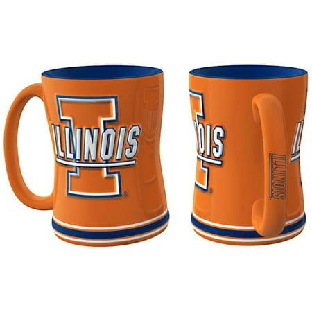 Illinois Fighting Illini Coffee Mug - 14oz Sculpted -
