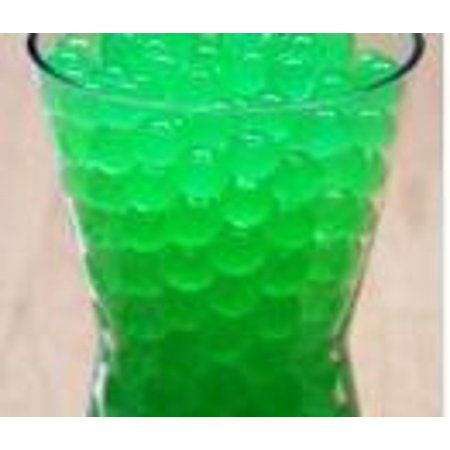 JellyBeadZ® GREEN Crystal Water Gel Beads for Wedding Party Decor Crystal Soil Jelly Balls Water Pearls Vase Filler Centerpieces 20 Bags