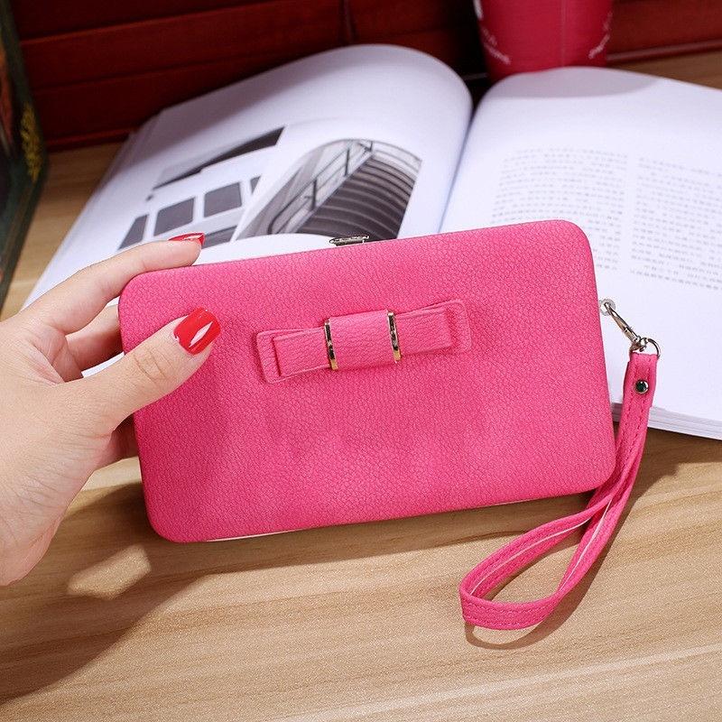 Womens Clutch Faux Leather Wallet Long Card Holder Phone Bag Case Purse Handbags