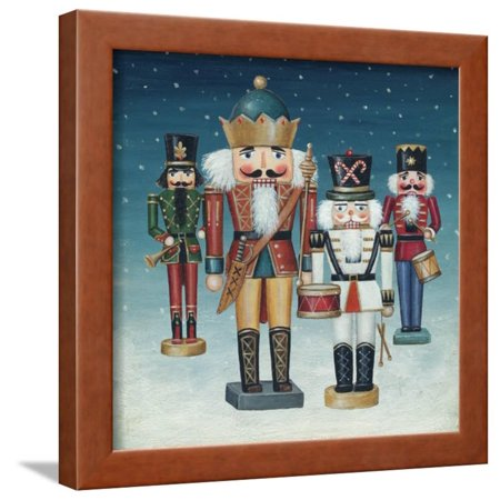 - King Nutcrackers Snow Framed Print Wall Art By David Cater Brown