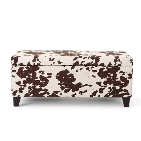 Surprising Brienne Velvet Storage Ottoman Bench Cow Print Caraccident5 Cool Chair Designs And Ideas Caraccident5Info