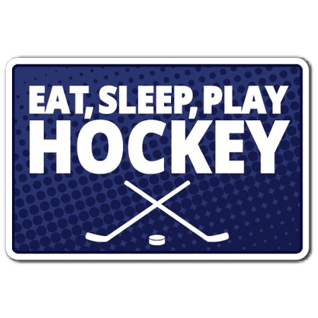 EAT SLEEP PLAY HOCKEY Decal team player sports game food faithful | Indoor/Outdoor | 5