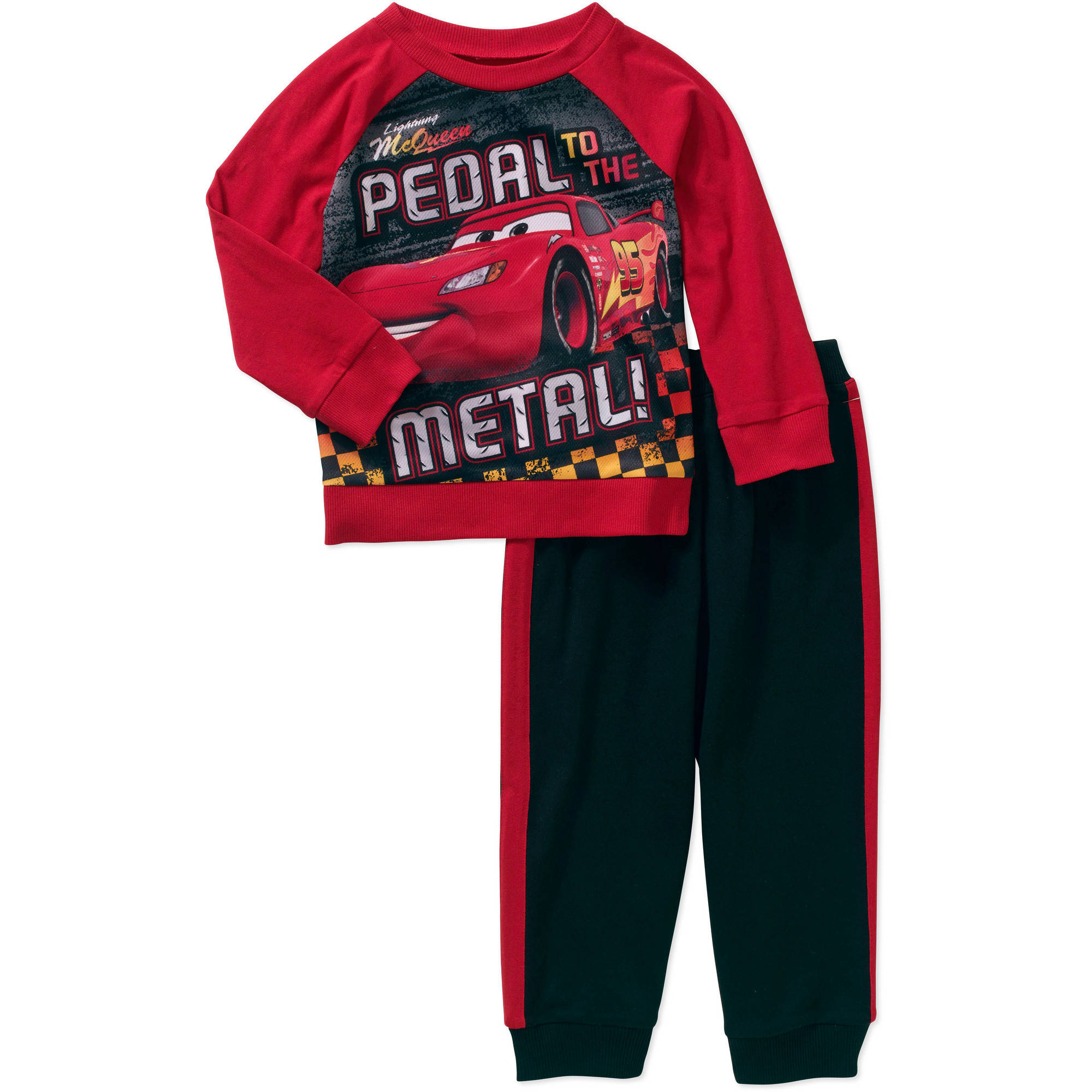 Disney Cars Baby Toddler Boy Hangdown Tee and Pants Outfit Set