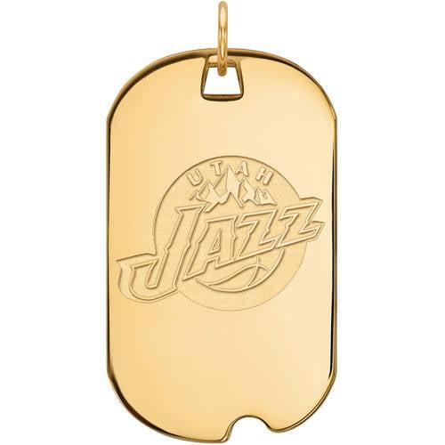 NBA Utah Jazz 14kt Yellow Gold Large Dog Tag