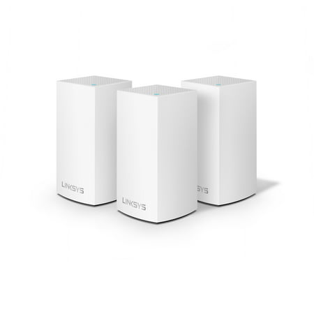 Linksys 3 Pack Velop Intelligent Mesh WiFi System, White