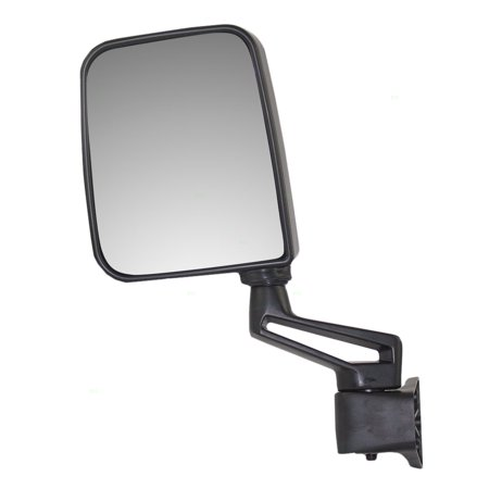 Drivers Manual Side View Mirror Ready-to-Paint Door Hinge Mounted Replacement for Jeep SUV