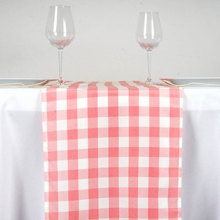 "BalsaCircle 14"" x 108"" Gingham Checkered Table Top Runner - Wedding Party Reception Linens Dinner Event Decorations"