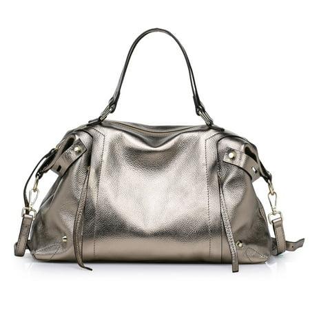 - Kattee Ladies' Soft Cowhide Genuine Leather Large Tote Handbag Fit 15