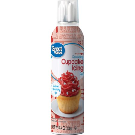 (4 Pack) Great Value Decorating Cupcake Icing, Red, 8.4 oz - Frosting Cupcakes For Halloween