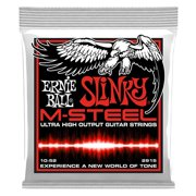 Ernie Ball M-Steel Skinny Top Heavy Bottom Slinky Electric Guitar Strings, 10-52