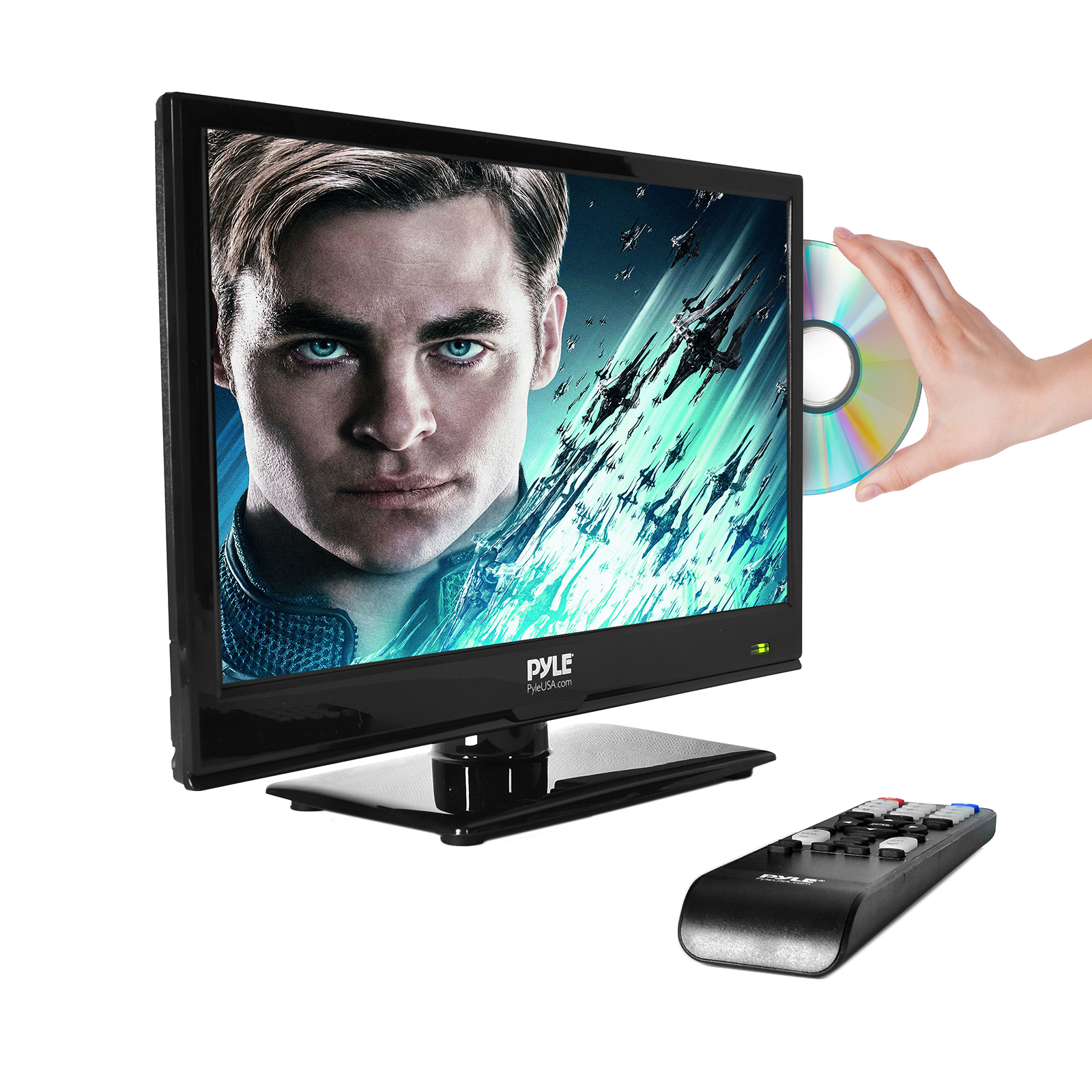 "15.6"" LED TV - HD Television with Built-in CD/DVD Player, 1080p Support"