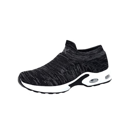 Mens Casual Walking Shoes Breathable Lightweight Mesh Running Slip-on
