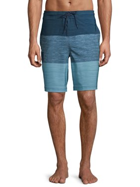 """George Men's and Big Men's 9"""" Novelty E-board Swim Trunk with Texture Colorblock, up to Size 3XL"""