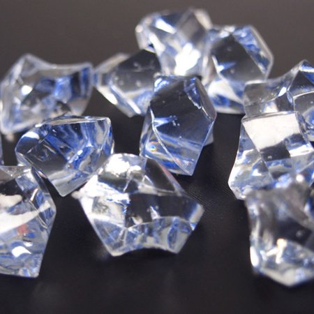 Acrylic Crystal Ice Rocks Table Scatter, 1-inch, 150-Piece, Light - Icy Blue Crystal
