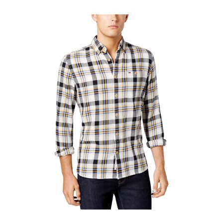 209d3702 Tommy Hilfiger Mens Logan Plaid Button Up Shirt 024 2XL - image 1 of 1 ...